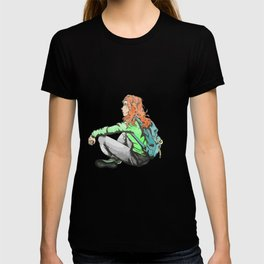 sad anime girl T-shirt