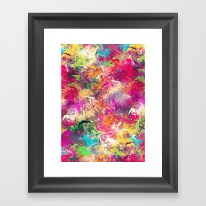 Random Paint Framed Art Print