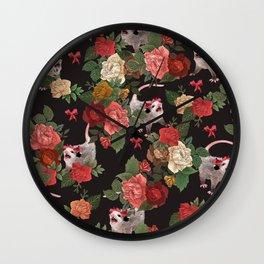 Opossum pattern Wall Clock