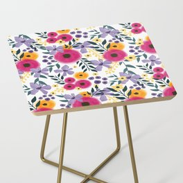 Spring Floral Bouquet Side Table
