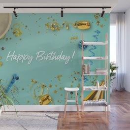 Happy Birthday Party Scene Layflat Wall Mural