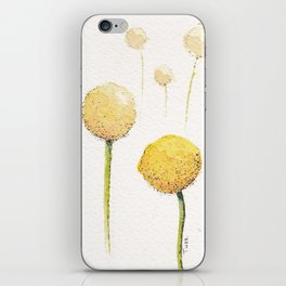 Watercolour Billy Buttons  iPhone Skin