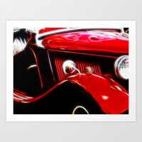 ford Art Prints featuring Ford V8 by Shalisa Photography