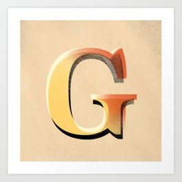 Many good words start with a G Art Print