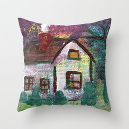 House at Dusk Throw Pillow