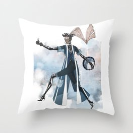 Blue New York City Throw Pillow