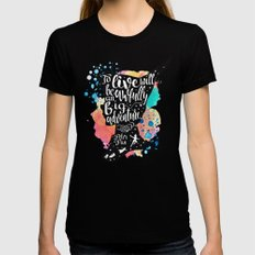 Peter Pan - To Live Black SMALL Womens Fitted Tee