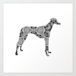 Paisley Dog No. 2 - Extra Large Art Print