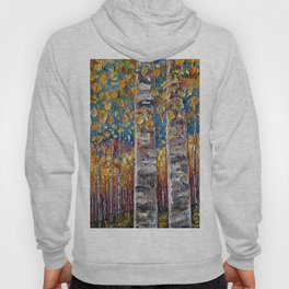 Autumn Aspen Colors Palette Knife Hoody