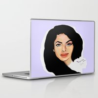 aaliyah Laptop & iPad Skins featuring Aaliyah remembered  by Catheriney