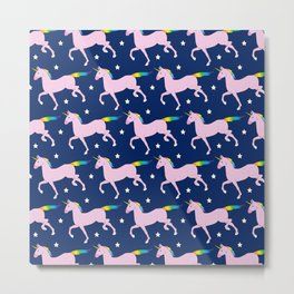 Unicorn Pattern Metal Print