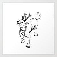 Rabies Pimp Art Print