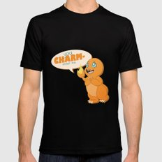 You CHARMander me Mens Fitted Tee Black SMALL