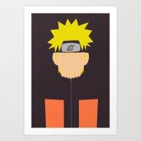 naruto Art Prints featuring Naruto Shippuden - Naruto by TracingHorses