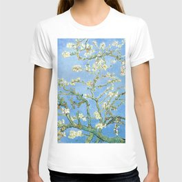 Van Gogh Almond Blossoms, Light Blue T-shirt