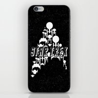 ships iPhone & iPod Skins featuring Ships Trek by Ran Doom