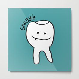 Snaggle Tooth Metal Print