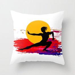 Martial art, karate, judo, aikido, self defence Throw Pillow