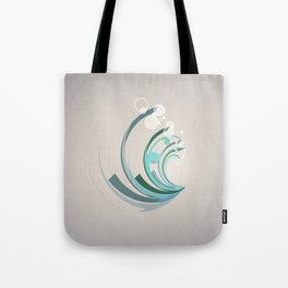 Wave Abstract Tote Bag