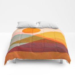 Abstraction_SUNSET_LANDSCAPE_POP_ART_Minimalism_018X Comforters