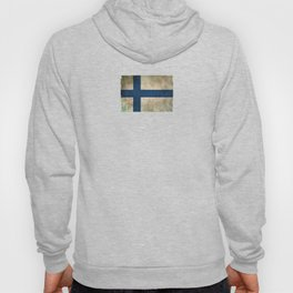 Old and Worn Distressed Vintage Flag of Finland Hoody