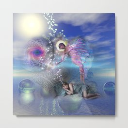 A novel can be a portal into parallel realities Metal Print