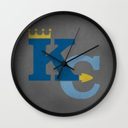 Kansas City Sports Double Blue Wall Clock