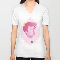 gumball V-neck T-shirts featuring Prince Gumball by spookzilla