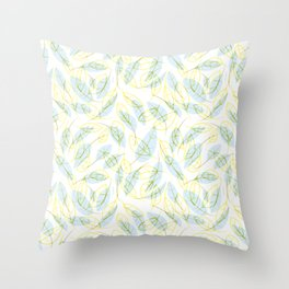 Wind and feathers Throw Pillow