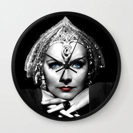 Greta Garbo Portrait Wall Clock