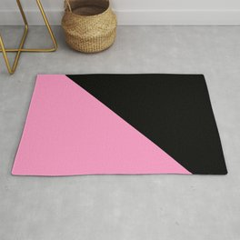 Just two colors 1: pink and black Rug