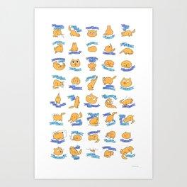 CAT MOVES Art Print