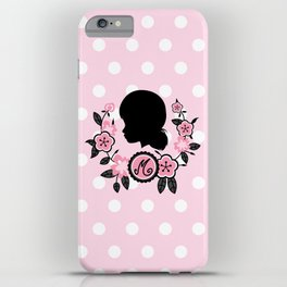 Silhouette of Marinette iPhone Case