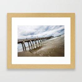 Tybee Island Pier Framed Art Print