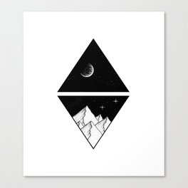 Triangles in space Canvas Print