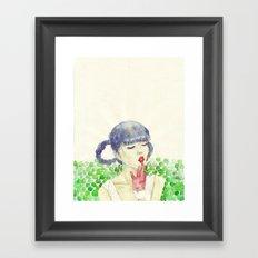 Pea Framed Art Print