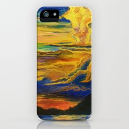 Golden Sunset iPhone Case