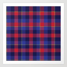 Red and Blue plaid Art Print