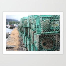 Lobster Traps On The Dock Art Print