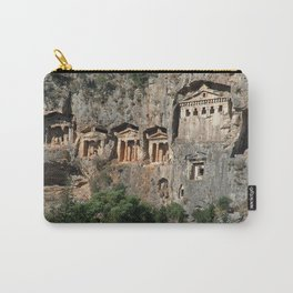 Lycian Tombs at Dalyan Close Up Carry-All Pouch