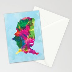 Watercolor U.S.A. Map Stationery Cards