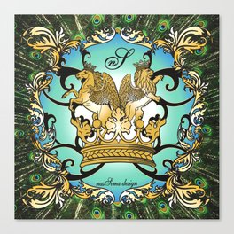 Royal Horse & Leo - animalprint Canvas Print