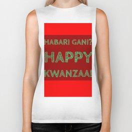 Habari Gani? Happy Kwanzaa! Biker Tank