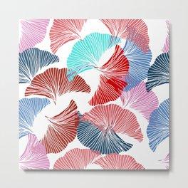 Gingko leaves. Botanical pattern. Metal Print