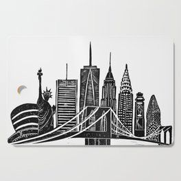 Linocut New York Cutting Board