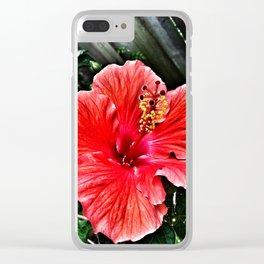 Habiscus Clear iPhone Case