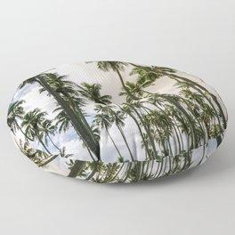 Palm Trees Kauai Hawaii Printable Wall Art | Tropical Beach Nature Ocean Coastal Travel Photography Print Floor Pillow