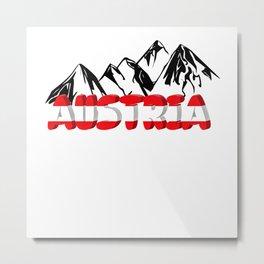 Austria Tyrol Holiday Climbing Mountains Gift Metal Print