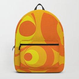Crazy Orange Circles Backpack