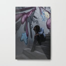 urban girl Metal Print